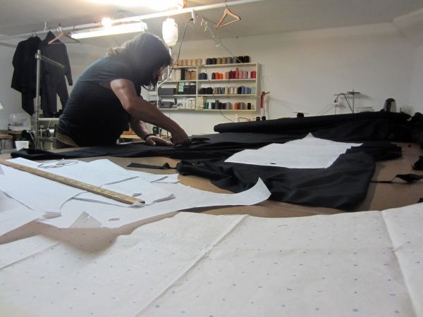 Henry in his studio working on his newest collection venture