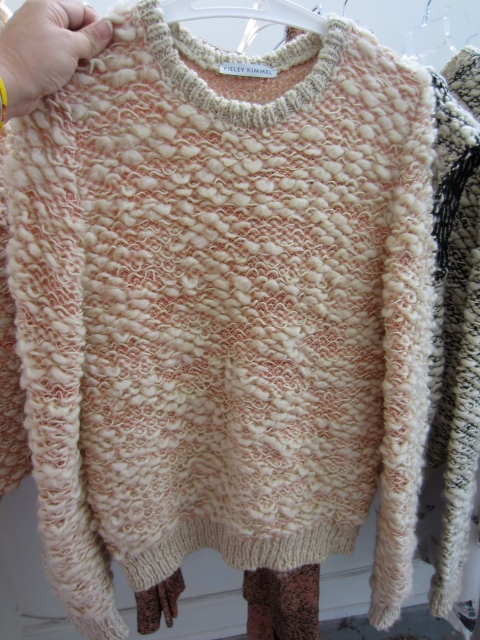 So in love with one of her best sellers of the season, this hand knit sweater