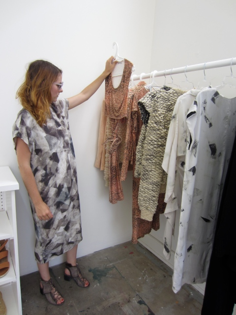 Wearing one of my favorite dresses from the collection, Kieley talks to me about her inspiration