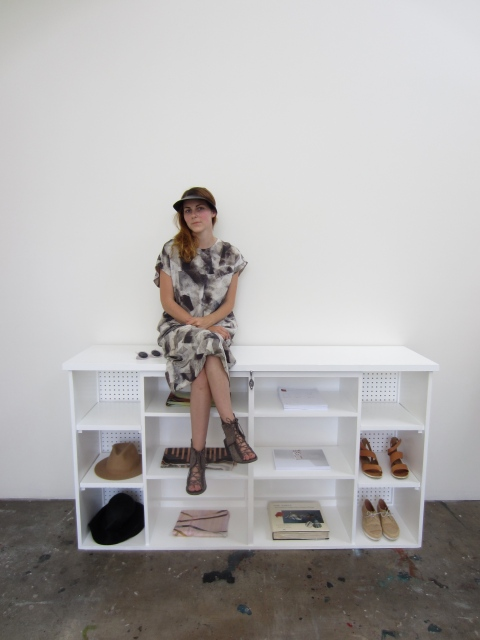 The adorable Kieley in her modern loft studio in downtown Los Angeles