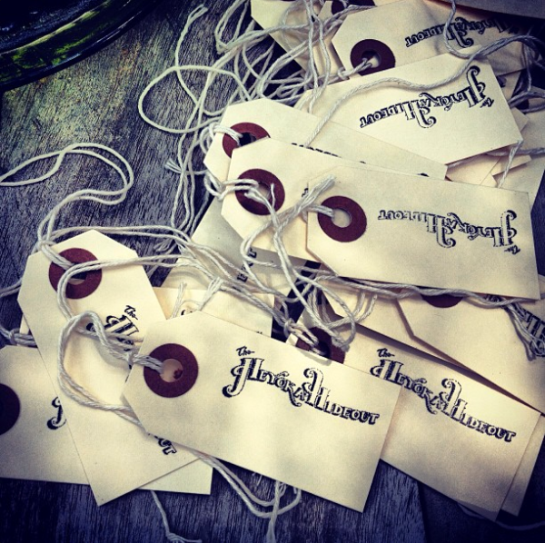 Hand crafted tags.